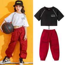 Fashion Hip Hop Dance Costume For Girls Jazz Dancing Rave Clothes Street