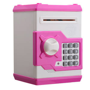 Money-Box Cash-Deposit-Machine Piggy-Bank Mini Atm Electronic Coin Password-Chewing Kids-Pink
