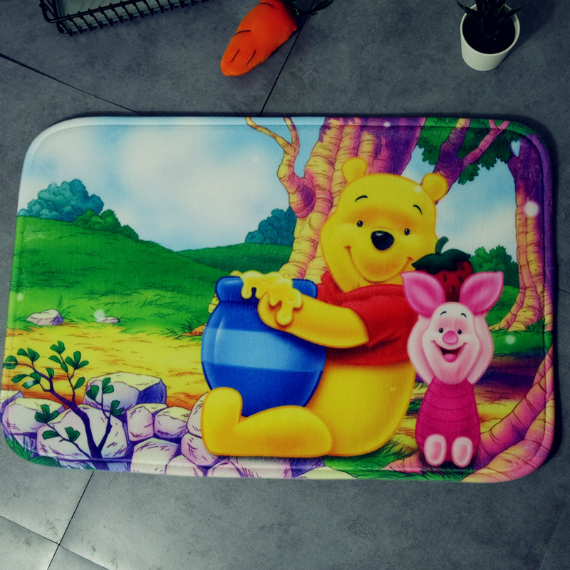 Cartoon Mat Cushion 38x58cm Door Mat Winnie The Pooh Bathroom Mat Kitchen Doorway Children Room Balcony Mat Bedroom Carpet