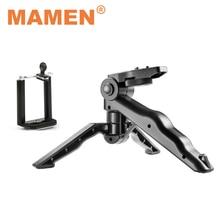 MAMEN Phone Tripod Selfie Stick Stand Mini Tripod Monopod 1/4 inch Screw With Phone Clip For Phone Nikon Canon Camera Stand