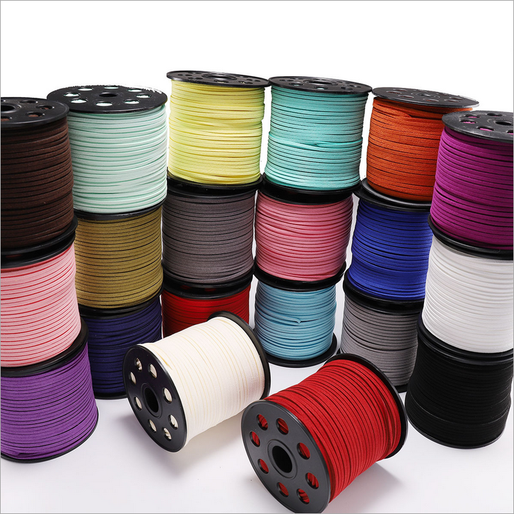 Wholesale 5 Yards 3mm Macrame Braided Faux Suede Cord Leather Lace DIY Handmade Beading Bracelet Jewelry Making