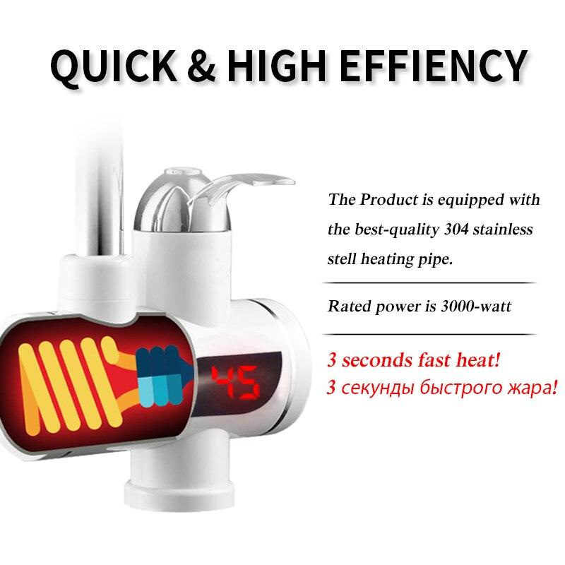 Кухонный Санузел водонагреватель мгновенный Электрический водонагреватель Мгновенный водонагреватель кран для горячей воды