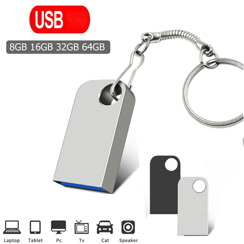 Mini Pen Drive 64gb High Speed PenDrive 32GB Usb Flash Drive 8GB Key Usb Stick 16GB Flash Memory Usb Flash Disk Type-C Adapter