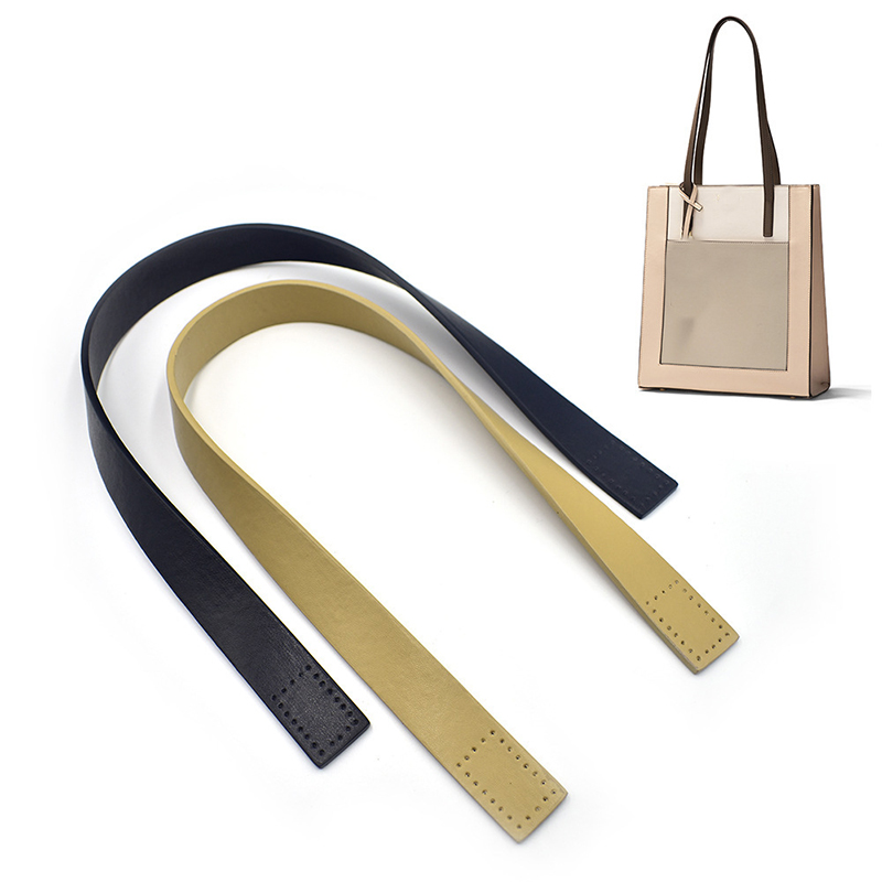 2Pcs Shoulder Bag Strap Women Handbag Handle Belt Replacement Strap DIY Leather Solid Color Bag Accessories Simple Correa Bolso