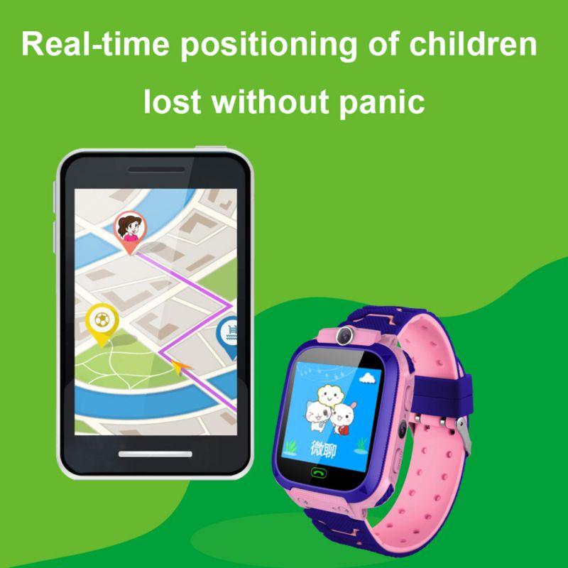 Relógio de Pulso Esperto das Crianças do Relógio à Prova Água com Posicionamento e Função do Sos para Android e Ios Anti-perdido Dwaterproof