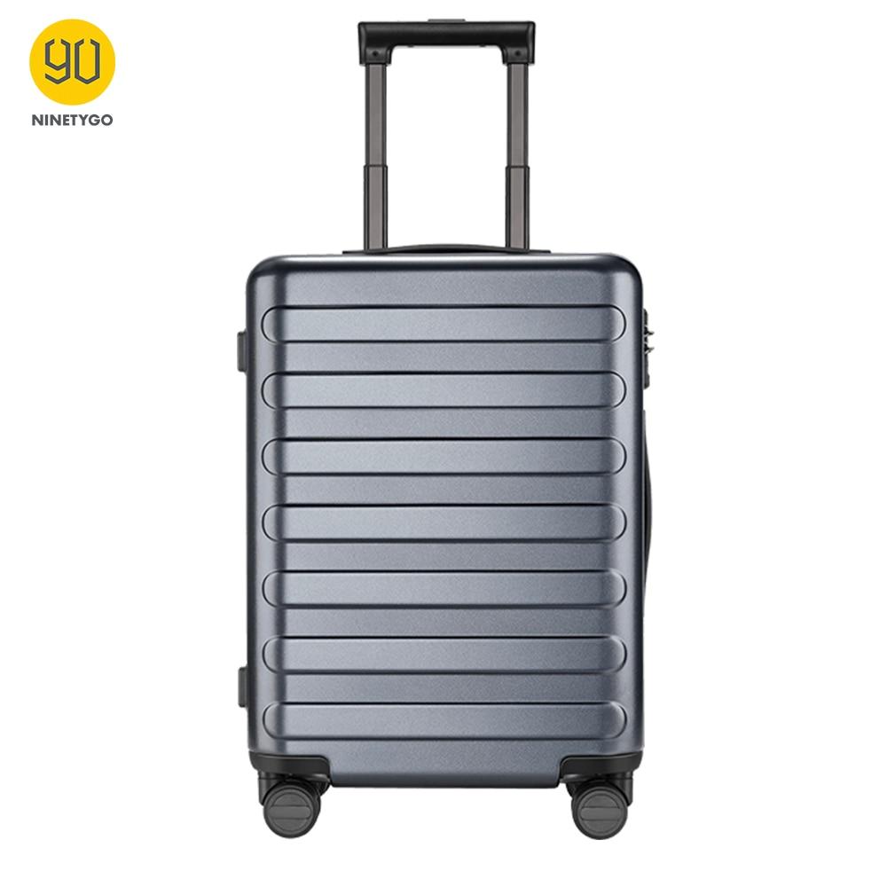 NINETYGO 90FUN 20 Inch Titanium Grey Suitcase Carry On Spinner Wheels Rolling Luggage TSA Lock Business Travel