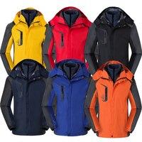 3 en 1 pareja al aire libre invierno impermeable cortavientos para hombre senderismo chaquetas Camping Softshell exterior chaqueta Camping caza abrigos Chaquetas de senderismo     -