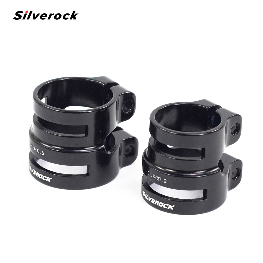 SILVEROCK Aluminum Double Seatpost Collar Clamp 27.2 / 31.8mm  31.8 / 34.9mm Special For Road Bike MTB Carbon Frame Balance Bike