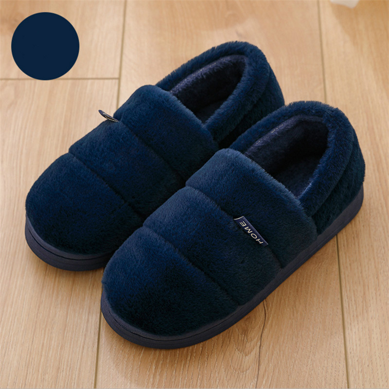 Winter Slippers Men Fur Shoes Cozy House Slippers For Man Warm Short Plush Indoor Shoes Women Lover Slipper Calzado Hombre