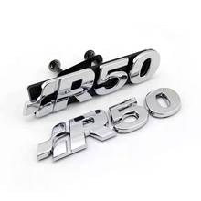 Materiale plastico colore cromato LOGO R50 Touarey MK1 emblema distintivo tronco