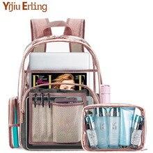 Transparent Bag Ladies Shoulder PVC Full Waterproof, Jelly Large Capacity Simple Female Student Backpack Travel