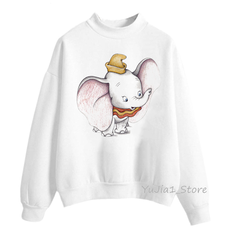 Dumbo Hoodies Animal Print Hoodie Sudadera Mujer 2019 Funny Sweatshirt Women Clothes Harajuku Kawaii Hoodie Sweat Femme