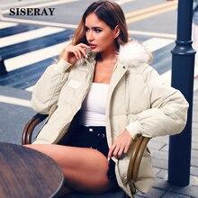 Зима утепленное пуховое пальто с мехом 90% белый пуховик Женская куртка-пуховик с капюшоном для женщин