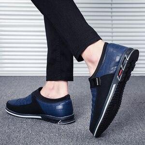 Image 2 - Sonbahar ayakkabı erkekler rahat deri ayakkabı deri yüksek kaliteli rahat ayakkabılar ışık siyah ayakkabı erkekler rahat ayakkabılar