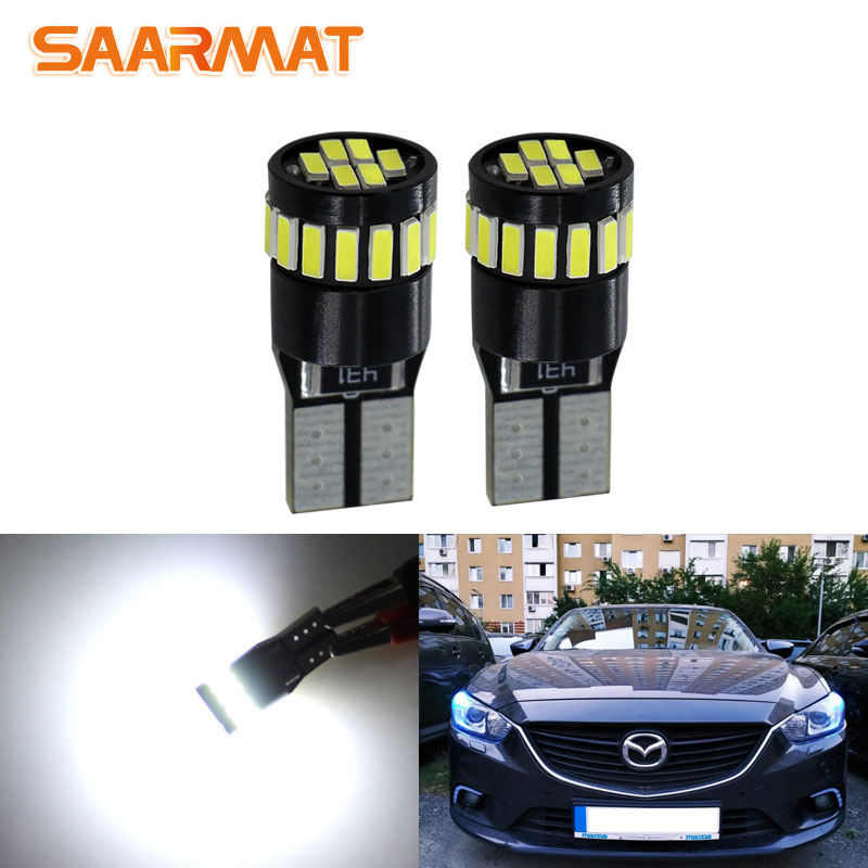 2pc 12V W5W T10 <font><b>LED</b></font> Auto Lamp Interior Parking Light for <font><b>Mazda</b></font> 6 5 3 Axela 2 Spoilers MX5 CX 7 9 323 CX-7 GH CX3 <font><b>CX7</b></font> rx8 cx5 MPV image
