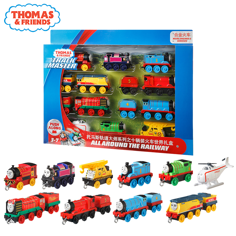 Original Thomas And Friends Trackmaster 10pcs Diecast Plastic&Alloy Train Set Toys For Children Kids Friendship Birthday Gifts
