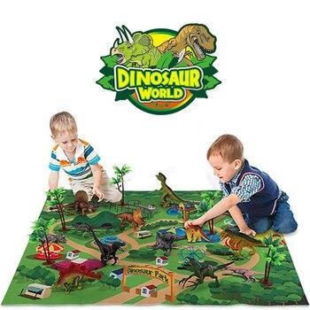 Children Simulation Animal Educational Toys For Boy Dinosaur Jurassic World Game Carpet Dinosaurio Dinosaurios Birthday Gift