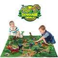 Crianças simulação animais brinquedos educativos para o menino dinossauro jurássico mundo jogo tapete dinosaurio dinosaurios presente de aniversário