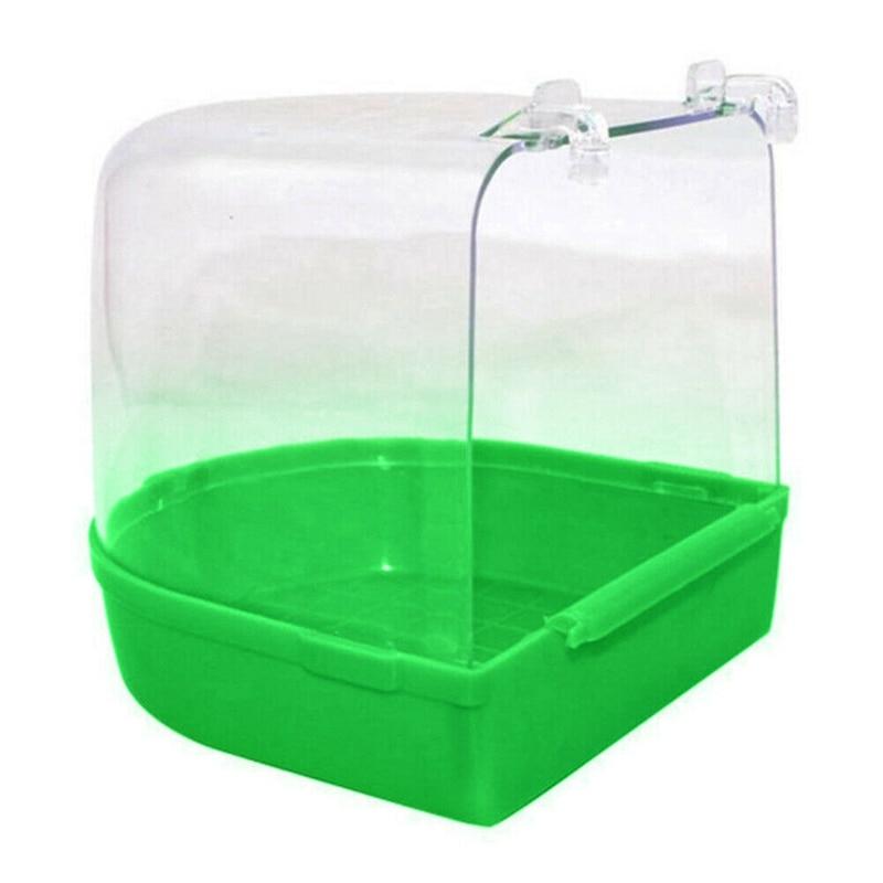 Bird Water Bath Tub For Pet Bird Cage Hanging Bowl Parrots Parakeet Bird Bath 1Pc