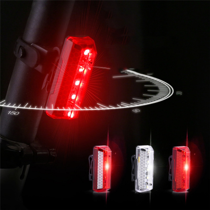 1PCS Bicycle Tail Light Rechargeable LED Mountain Bike Rear Light Safety Warning Night Tail Light