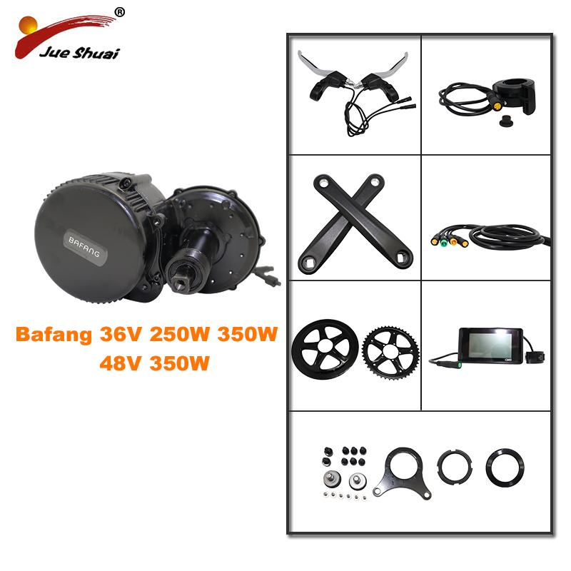 BAFANG 36V 250W 350W 48V 350W Mid Drive Motor 8fun Bicycle Electric eBike Conversion Kit Classical Central e-Bike Engine Newest image
