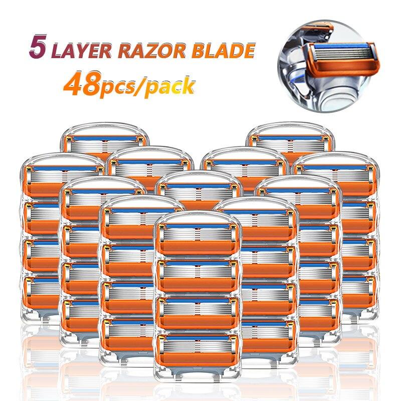 Бритвенные лезвия кассеты для бритья для Gillette Fusion 5 для лица бритва Чехол для мужчин Сменные бритвенные головки набор бритвенных лезвий для ...