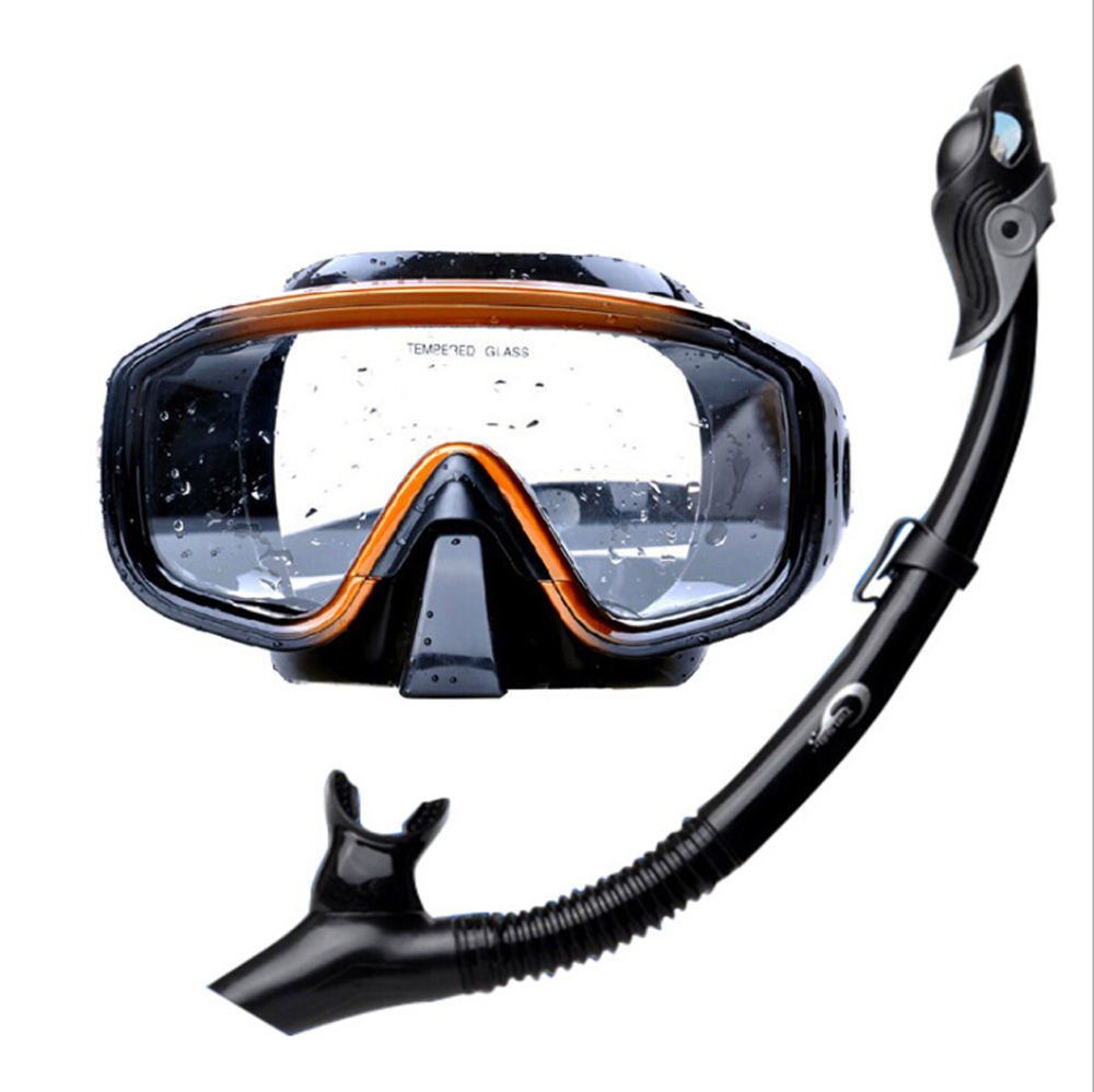 Professional Silicone Scuba Dive Mask Snorkel Set Use for Swimming Diving Snorke for Water  Sports Snorkeling Equipment