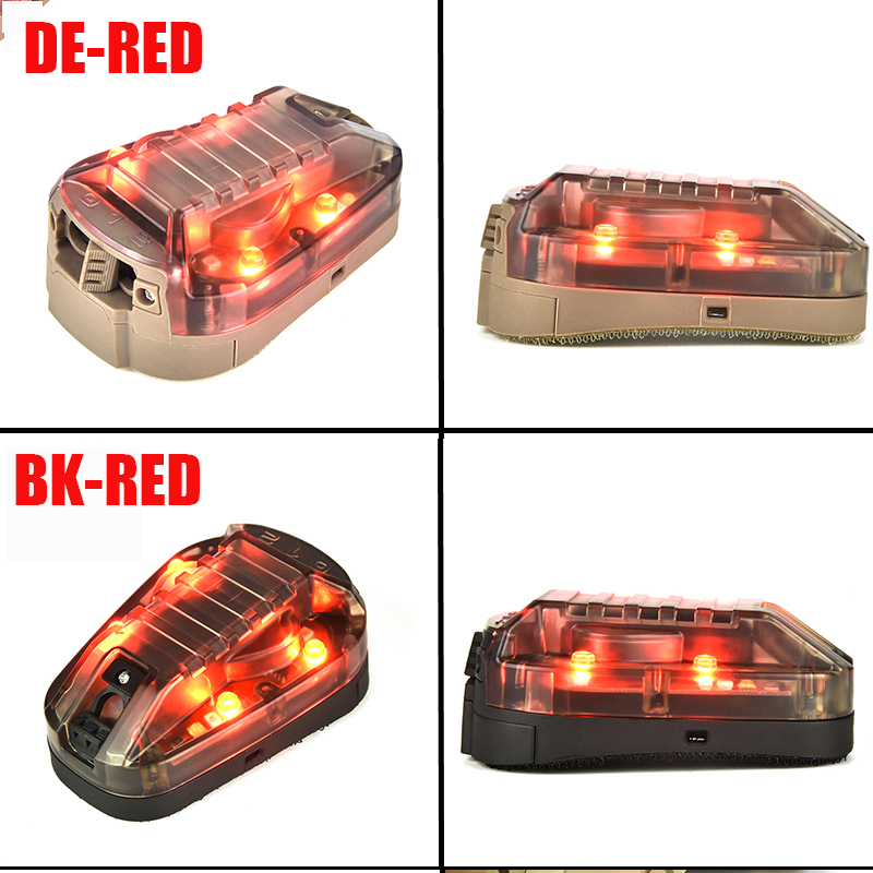 vermelho strobe flash luz capacete luz tatico 05