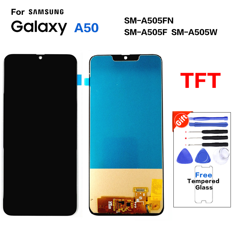 TFT For <font><b>Samsung</b></font> Galaxy <font><b>A50</b></font> SM-A505FN SM-A505W <font><b>lcd</b></font> <font><b>Display</b></font> Touch Screen Replacement For <font><b>Samsung</b></font> <font><b>A50</b></font> A505 A505G <font><b>display</b></font> <font><b>lcd</b></font> module image