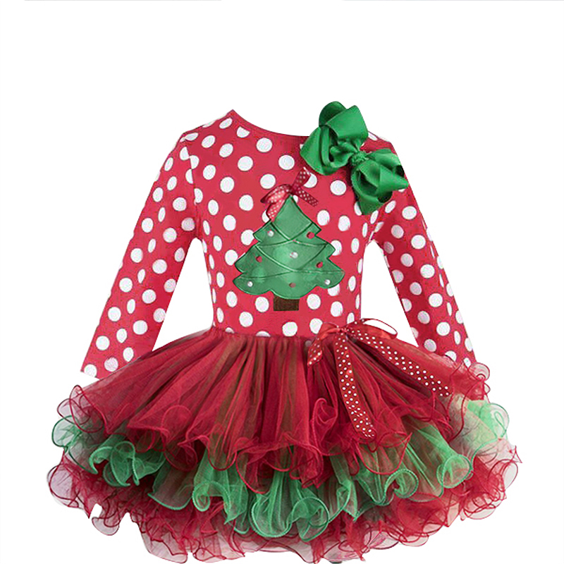 2 6T Santa Claus Christmas Dress Kids Party New Year Costume Winter Snowman Baby Girl Clothes 2-6T Santa Claus Christmas Dress Kids Party New Year Costume Winter Snowman Baby Girl Clothes Christmas Tree Children Clothing