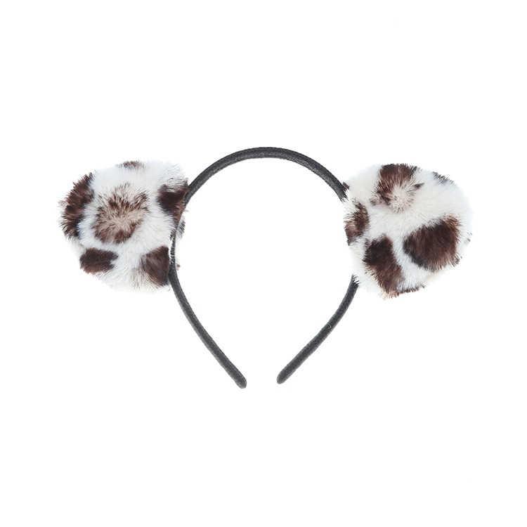 أسود أفخم آذان القط السيدات الفتيات مثير Hairband الذاتي عقال حفلة عيد ميلاد الكرة اكسسوارات للشعر النساء الشتاء هوب أغطية الرأس