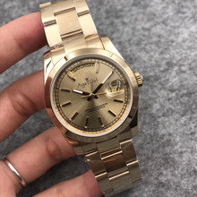 Luxury Brand New Men Daydate Stainless Steel Automatic Mechanical Watch Sapphire 18k Full Gold Limited Sport Watches 36mm AAA+(China)