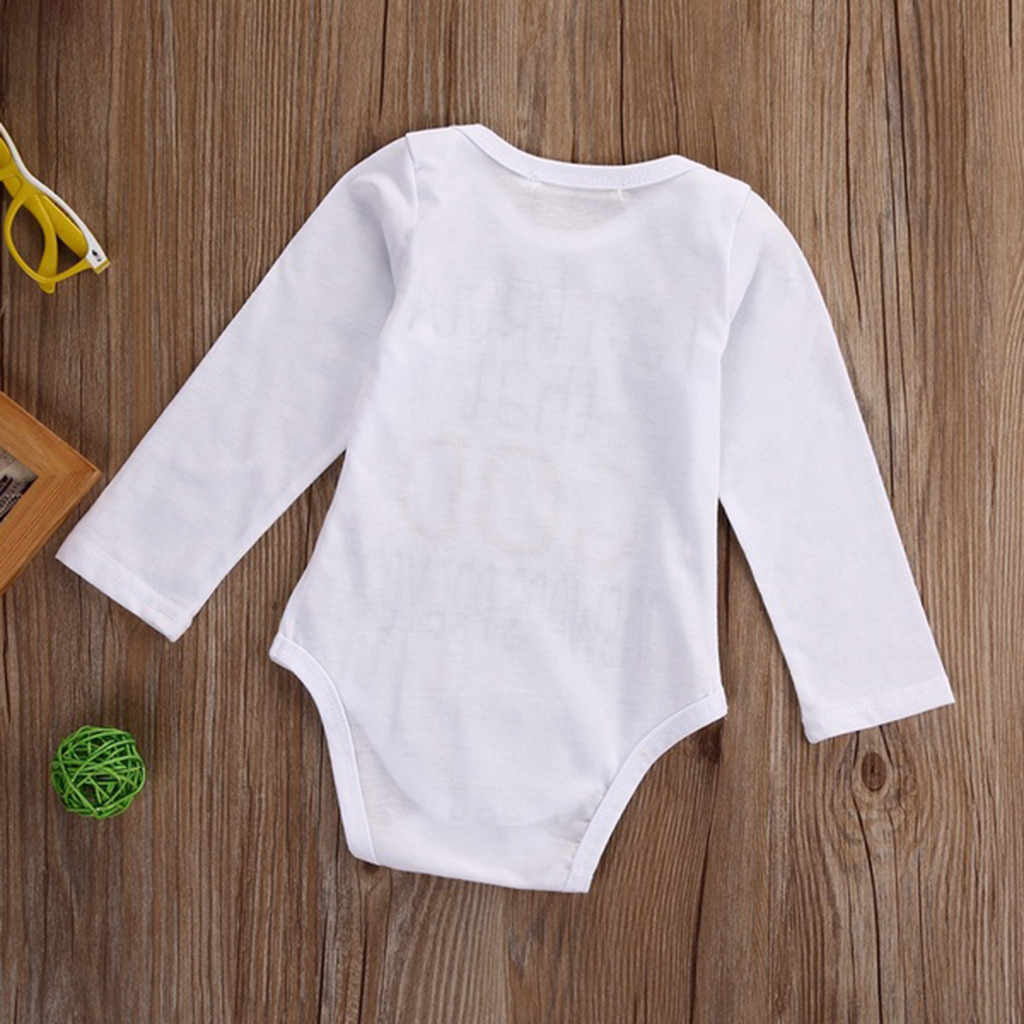 Pasgeboren Bodysuit Romper Baby Meisjes Jongens Cartoon Olifant Brief Print baby kostuum baby romper Pasgeboren Winter 2019
