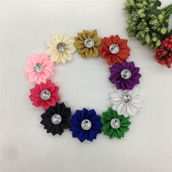 Polyester tape Rhinestone 3D artificial flower Christmas home decoration DIY Craft Flower Wall Scrapbook Gift Box Accessories image