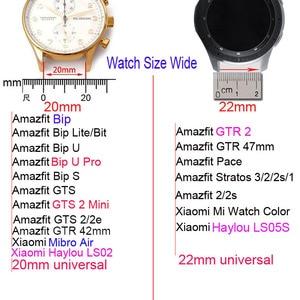 Image 2 - Stainless Steel Band For Xiaomi Amazfit GTR 2 Bip S U Pro GTS2 Mini 2e Stratos 3 Bracelet Watchband 20mm 22mm Smart Watch Strap
