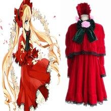 Anime Rozen Maiden Cosplay Costumes Shinku Costume Dresses Halloween Party Game Women Lolita