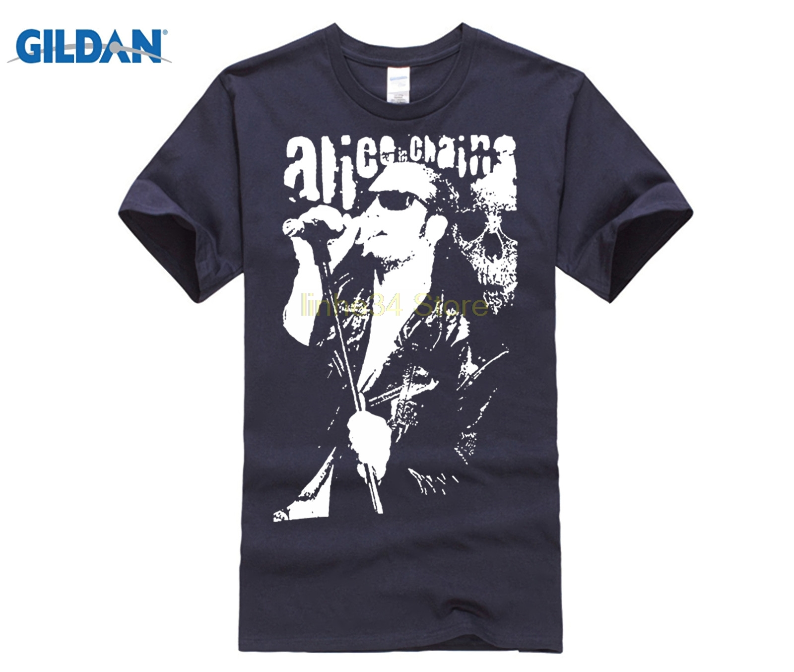 New 2017 Fashion T Shirt Men Cinxon Men Alice In Chains Layne Staley Short Tee Shirt Humor Tee Shirt 100% Cotton Tops Graphic