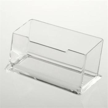 1xClear Desktop Business Card Holder Display Stand Acrylic Plastic Desk Shelf фото