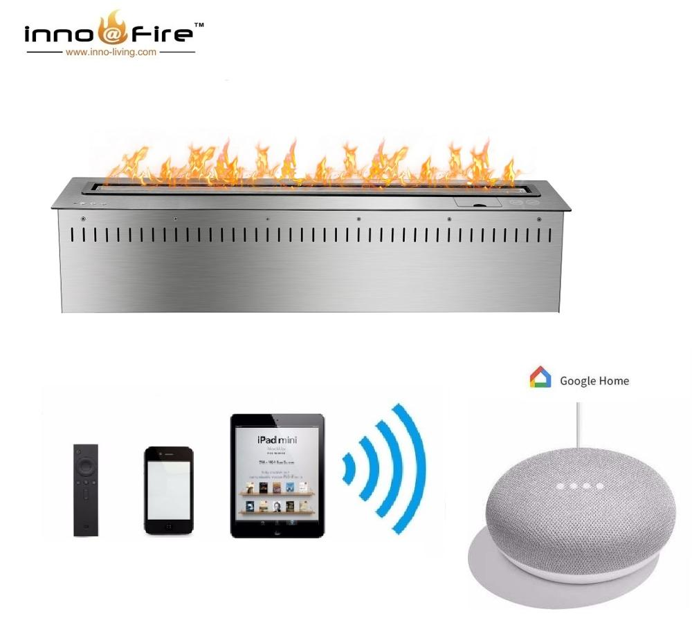 Inno Living 24 Inch Smart Bio Ethanol Fireplace Remote Control Burner Insert