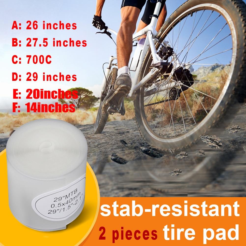 2pcs 26 29 700c Bicycle Bike MTB Tire Liner Anti-Puncture Belt Tyre Protector AL