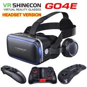 Оригинальная VR shinecon 6,0 версия виртуальной реальности и стандартная версия andglasses 3D очки гарнитура для шлема смартфона