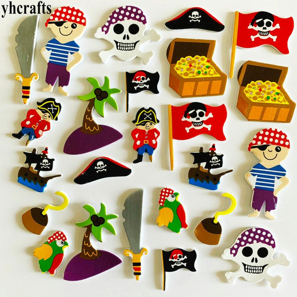1 упаковка/Партия. Набор для скрапбукинга с изображением животных на ферме. Ранние развивающие игрушки для детского сада художественные поделки игрушки ручной работы howework DIY - Цвет: 24PCS pirate