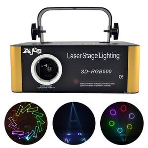 Image 1 - SD Card DMX RGB Color Editable ILD Animation Music Laser Projector Strobe Lights Disco Party DJ Club Stage Color Music Lighting