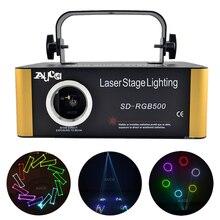 بطاقة SD DMX RGB لون قابل للتحرير ILD الرسوم المتحركة الموسيقى جهاز عرض ليزر ستروب أضواء ديسكو حفلة DJ نادي المرحلة لون الموسيقى الإضاءة