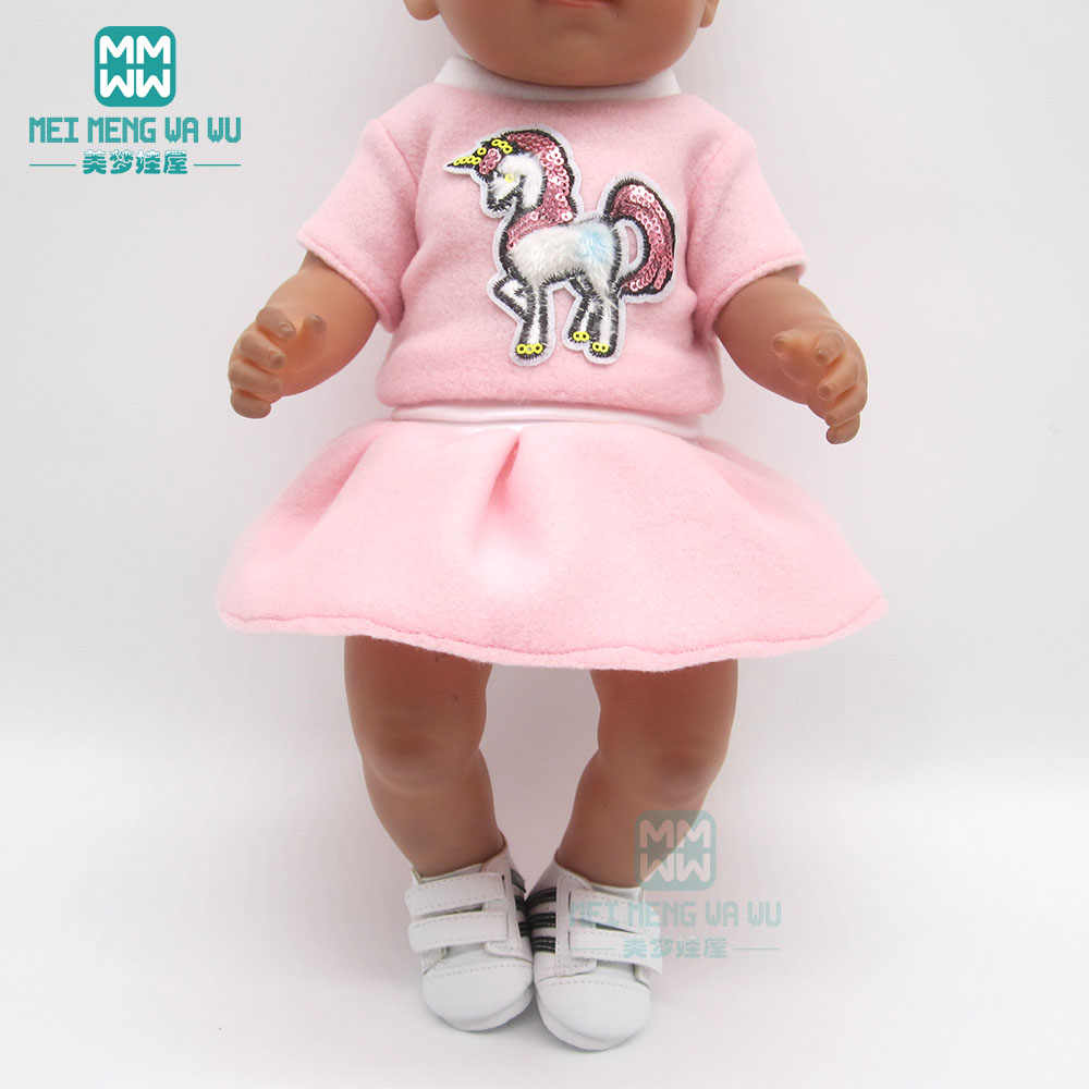 Doll Clothes Outfit unicorn dress  for 43 cm toy new born doll baby 18 Inch American doll Our Generation