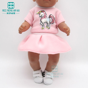 Doll Clothes Outfit unicorn dress for 43 cm toy new born doll baby 18 Inch American doll Our Generation(China)