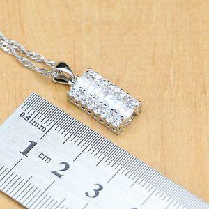 Image 3 - Женский ювелирный комплект из колье, серёг и браслета, из серебра 925 пробы