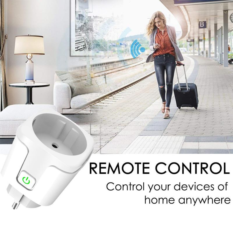 16A Tuya Wifi Smart Plug Draadloze Power Adapter Remote Voice Control Timer Power Energy Monitor Socket Voor Alexa Google Thuis 5