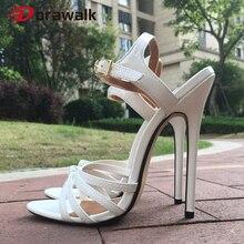 Women's Sandals Shoes Heel Cross-Dresser Fetish Extreme Drag Queen Plus-Size Ankle-Strap