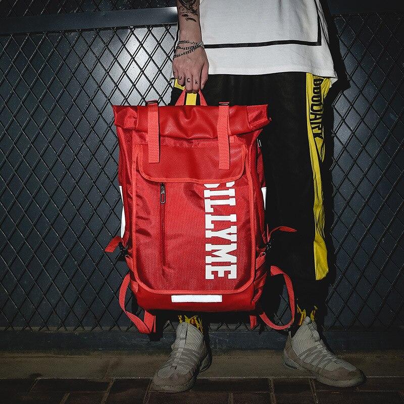 2019 nouvelle rue tendance école sac à dos hommes et femmes grande capacité hip hop marée marque réfléchissant école sac à dos femme sac à dos